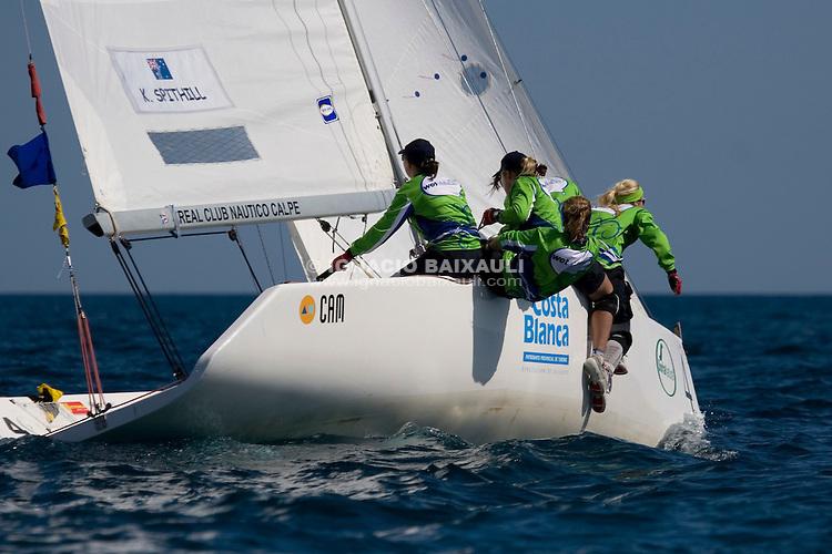 Katie Spithill   . Asutralia  ...3 Ranking ISAF - X Criterium Internacional Femenino de Match Race - 22-26 April 2008 - Real Club Náutico de Calpe, Calpe, Alicante, Spain - Match Race - Tom28