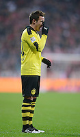 FUSSBALL   1. BUNDESLIGA  SAISON 2012/2013   15. Spieltag FC Bayern Muenchen - Borussia Dortmund     01.12.2012 Mario Goetze (Borussia Dortmund) enttaeuscht