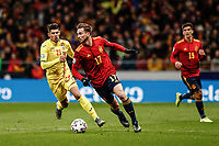18th November 2019; Wanda Metropolitano Stadium, Madrid, Spain; European Championships 2020 Qualifier, Spain versus Romania;  Fabian Ruiz (esp) breaks forward on the ball  - Editorial Use