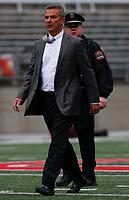 Ohio State Buckeyes head coach Urban Meyer enters Ohio Stadium before a NCAA college football game between the Ohio State Buckeyes and the Minnesota Golden Gophers on Saturday, October 13, 2018 at Ohio Stadium in Columbus, Ohio. [Joshua A. Bickel/Dispatch]
