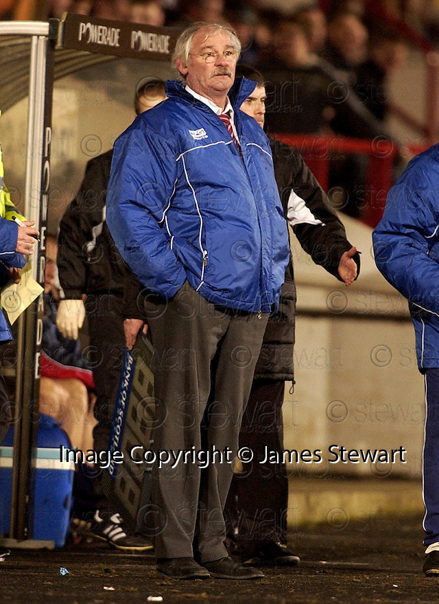 08/02/2006         Copyright Pic: James Stewart.File Name : sct_jspa11_dunfermline_v_ict.JIM LEISHMAN WATCHES HIS TEAM THROW AWAY A TWO GOAL LEAD.Payments to :.James Stewart Photo Agency 19 Carronlea Drive, Falkirk. FK2 8DN      Vat Reg No. 607 6932 25.Office     : +44 (0)1324 570906     .Mobile   : +44 (0)7721 416997.Fax         : +44 (0)1324 570906.E-mail  :  jim@jspa.co.uk.If you require further information then contact Jim Stewart on any of the numbers above.........