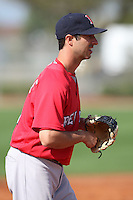 March 18, 2010:  Third Baseman Jeff Natale of the Boston Red Sox organization during Spring Training at Ft.  Myers Training Complex in Fort Myers, FL.  Photo By Mike Janes/Four Seam Images