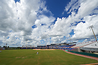 General view of an Instructional League game between the Atlanta Braves and Washington Nationals on September 30, 2016 at Space Coast Stadium in Melbourne, Florida.  (Mike Janes/Four Seam Images)
