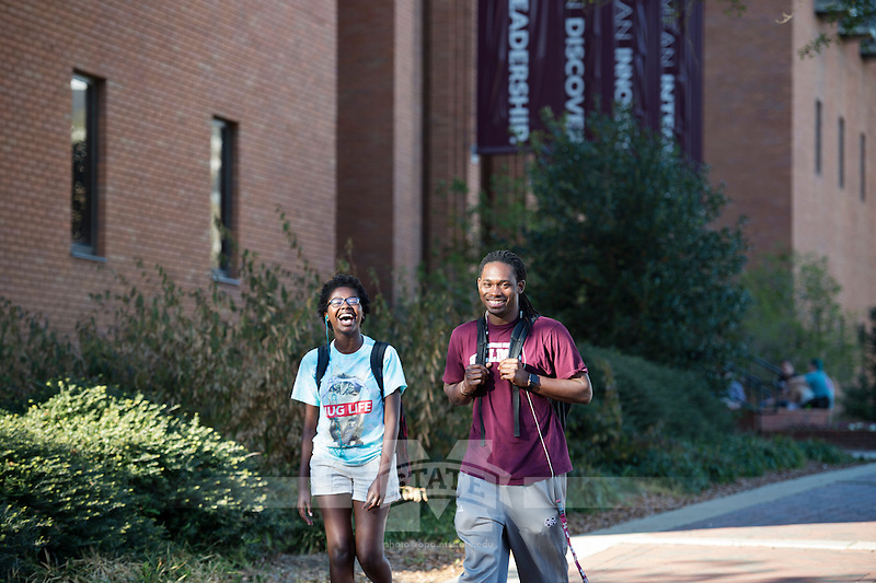 Students by McCool Hall.<br />  (photo by Megan Bean / &copy; Mississippi State University)