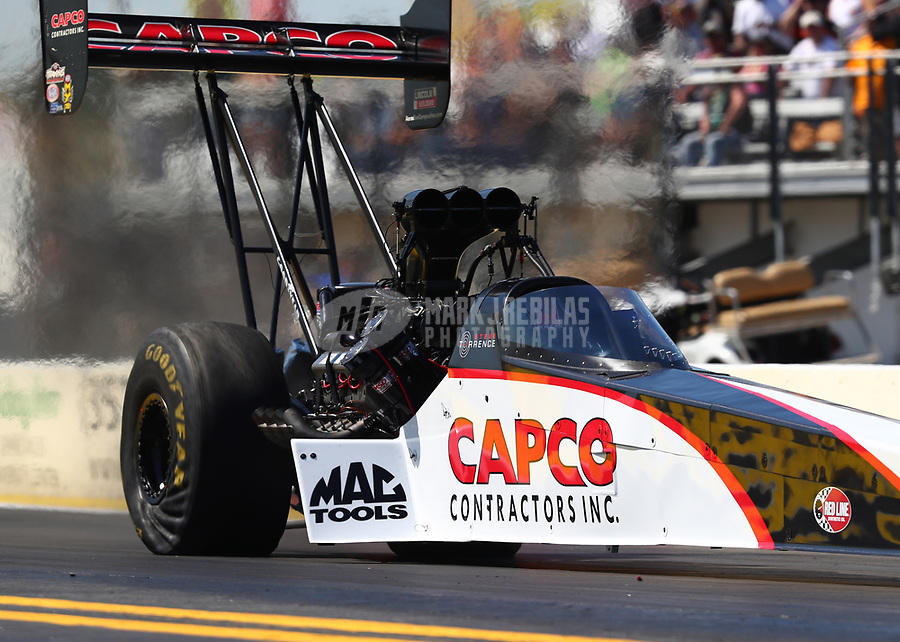 Mar 17, 2017; Gainesville , FL, USA; NHRA top fuel driver Steve Torrence during qualifying for the Gatornationals at Gainesville Raceway. Mandatory Credit: Mark J. Rebilas-USA TODAY Sports
