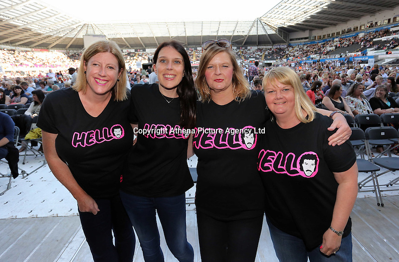Pictured: Lionel Richie fans Saturday 18 June 2016<br /> Re: Lionel Richie, All The Hits concert at the Liberty Stadium, Swansea, Wales, UK