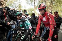 Michael Matthews (AUS/Sunweb) showing some scars after finishing<br /> <br /> 105th Liège-Bastogne-Liège 2019 (1.UWT)<br /> One day race from Liège to Liège (256km)<br /> <br /> ©kramon