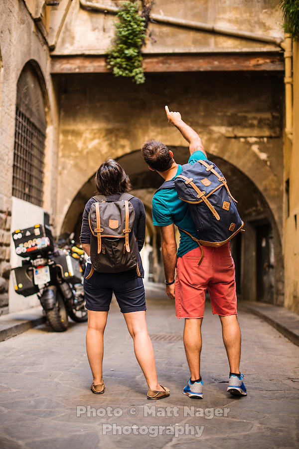 Photos of the Fjall Raven Rucksack No.21 backpack in Italy, July 2016.<br /> <br /> Photo by Matt Nager