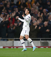 Tottenham Hotspur's Son Heung-Min celebrates scoring his side's first goal <br /> <br /> Photographer Rob Newell/CameraSport<br /> <br /> UEFA Champions League Group B  - Tottenham Hotspur v Bayern Munich - Tuesday 1st October 2019 - White Hart Lane - London<br />  <br /> World Copyright © 2018 CameraSport. All rights reserved. 43 Linden Ave. Countesthorpe. Leicester. England. LE8 5PG - Tel: +44 (0) 116 277 4147 - admin@camerasport.com - www.camerasport.com