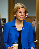 United States Senator Elizabeth Warren (Democrat of Massachusetts) arrives for the United States Senate Committee on Armed Services confirmation hearing on the nomination of US Marine Corps General James N. Mattis (retired) to be Secretary of Defense on Capitol Hill in Washington, DC on Thursday, January 12, 2017.<br /> Credit: Ron Sachs / CNP