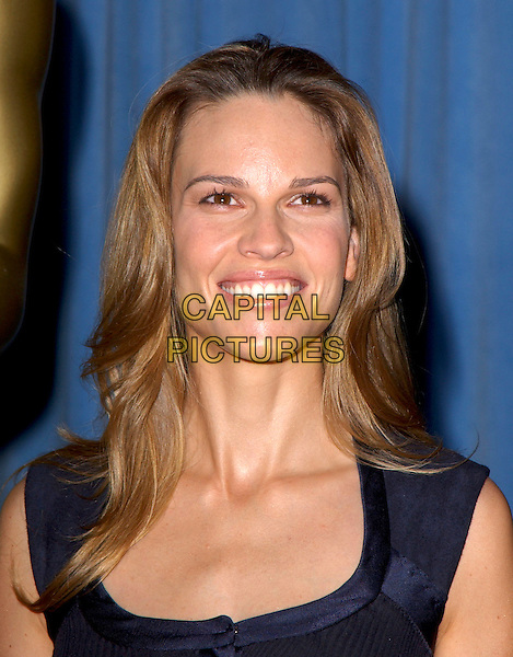 HILARY SWANK.Attends The 77th Annual Academy Awards Nominees Luncheon held at The Beverly Hilton Hotel,.Beverly Hills, California, USA, .February 7th 2005..portrait headshot lunch.Ref: DVS.www.capitalpictures.com.sales@capitalpictures.com.©Capital Pictures.