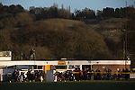 Alvechurch FC 3 Highgate United 0, 26/12/2016. Lye Meadow, Midland Football League Premier Division. First-half action at Lye Meadow as Alvechurch (in amber) hosted Highgate United in a Midland Football League premier division match. Originally founded in 1929 and reformed in 1996 after going bust, the club has plans to move from their current historic ground to a new purpose-built stadium in time for the 2017-18 season. Alvechurch won this particular match by 3-0, watched by 178 spectators, taking them back to the top of the league. Photo by Colin McPherson.