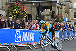 Daniil Fominykh (KAZ) in action during the Men Elite Individual Time Trial of the UCI World Championships 2019 running 54km from Northallerton to Harrogate, England. 25th September 2019.<br /> Picture: Eoin Clarke | Cyclefile<br /> <br /> All photos usage must carry mandatory copyright credit (© Cyclefile | Eoin Clarke)