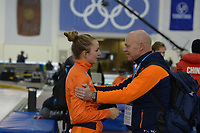 SPEEDSKATING: 16-02-2020, Utah Olympic Oval, ISU World Single Distances Speed Skating Championship, 1500m Ladies, Melissa Wijfje (NED), Henk Hospes (coach Gewest Fryslân),  ©photo Martin de Jong
