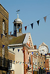 The Old Corn Exchange and clock, High Street, Rochester, Kent