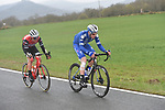 2 riders try to escape after the first hour of Stage 4 of the Tour of the Basque Country 2019 running 163.6km from Vitoria-Gasteiz to Arrigorriaga, Spain. 11th April 2019.<br /> Picture: Colin Flockton | Cyclefile<br /> <br /> <br /> All photos usage must carry mandatory copyright credit (&copy; Cyclefile | Colin Flockton)