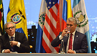 MEDELLÍN - COLOMBIA ,28-06-2019:El Presiente de Colombia Ivan Duque durante  La 49 Asamblea General de La Organización de Estados Americanos (OEA)/ The President of Colombia Ivan Duque during the 49th General Assembly of the Organization of American States (OEA). Photo: VizzorImage / León Monsalve / Contribuidor.