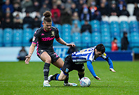 Leeds United's Kalvin Phillips competing with Sheffield Wednesday's Fernando Forestieri (right) <br /> <br /> Photographer Andrew Kearns/CameraSport<br /> <br /> The EFL Sky Bet Championship - Sheffield Wednesday v Leeds United - Saturday 26th October 2019 - Hillsborough - Sheffield<br /> <br /> World Copyright © 2019 CameraSport. All rights reserved. 43 Linden Ave. Countesthorpe. Leicester. England. LE8 5PG - Tel: +44 (0) 116 277 4147 - admin@camerasport.com - www.camerasport.com