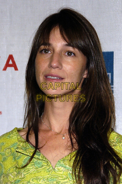 "CHARLOTTE GAINSBOURG.6th Annual Tribeca Film Festival - ""Golden Door"" premiere at Pace University Schimmel Center for the Arts, New York City, New York, USA..May 2nd, 2007.headshot portrait green.CAP/ADM/BL.©Bill Lyons/AdMedia/Capital Pictures *** Local Caption ***"