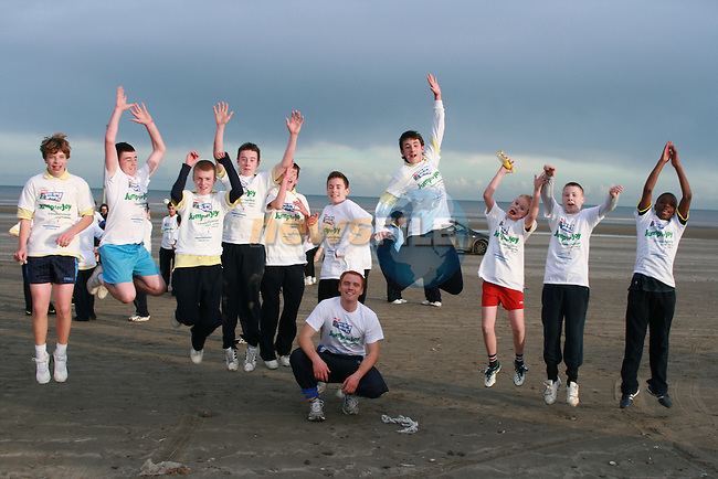 The first 10 boys through the finish line at the Coláiste na hInse, Jump for Joy Fun Run in aid of Crumlin Childrens Hospital...Photo NEWSFILE/Jenny Matthews.(Photo credit should read Jenny Matthews/NEWSFILE)....This Picture has been sent you under the condtions enclosed by:.Newsfile Ltd..The Studio,.Millmount Abbey,.Drogheda,.Co Meath..Ireland..Tel: +353(0)41-9871240.Fax: +353(0)41-9871260.GSM: +353(0)86-2500958.email: pictures@newsfile.ie.www.newsfile.ie.FTP: 193.120.102.198.