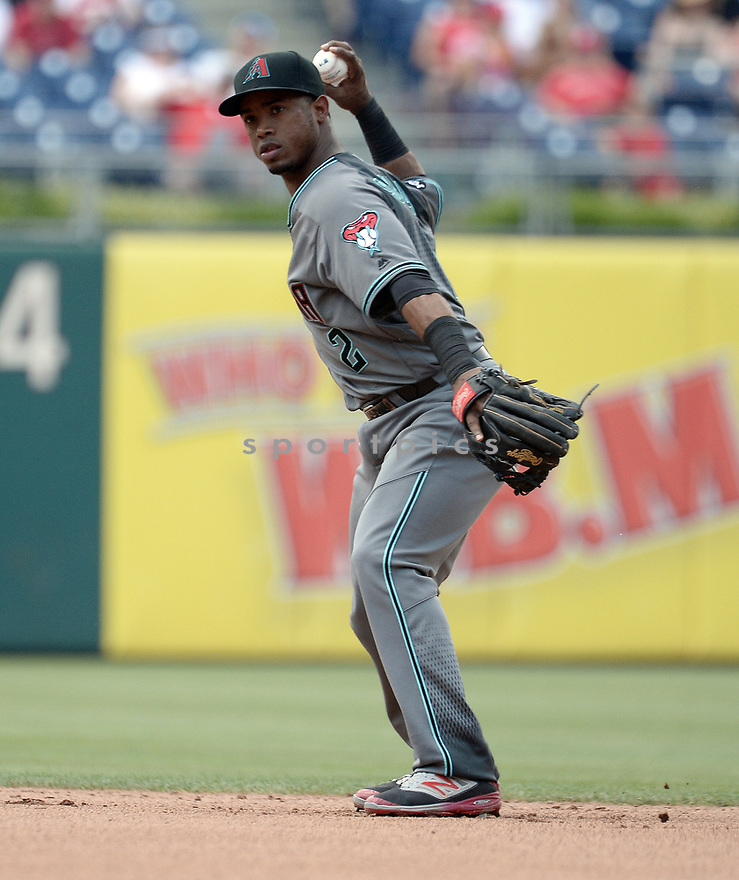 Arizona Diamondbacks Jean Segura (2) during a game against the Philadelphia Phillies on June 20, 2016 at Citizens Bank Park in Philadelphia, PA. The Diamondbacks beat the Phillies 3-1.