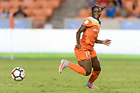 Houston, TX - Wednesday June 28, 2017: Nichelle Prince chases after a loose ball during a regular season National Women's Soccer League (NWSL) match between the Houston Dash and the Boston Breakers at BBVA Compass Stadium.