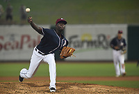 NWA Democrat-Gazette/J.T. WAMPLER NWA Naturals' Yunior Marte pitches against the Arkansas Travelers Monday May 14, 2018 at Arvest Ballpark in Springdale.