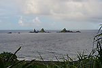 Orchid Island (蘭嶼), Taiwan -- View of Battleship Rock.<br />