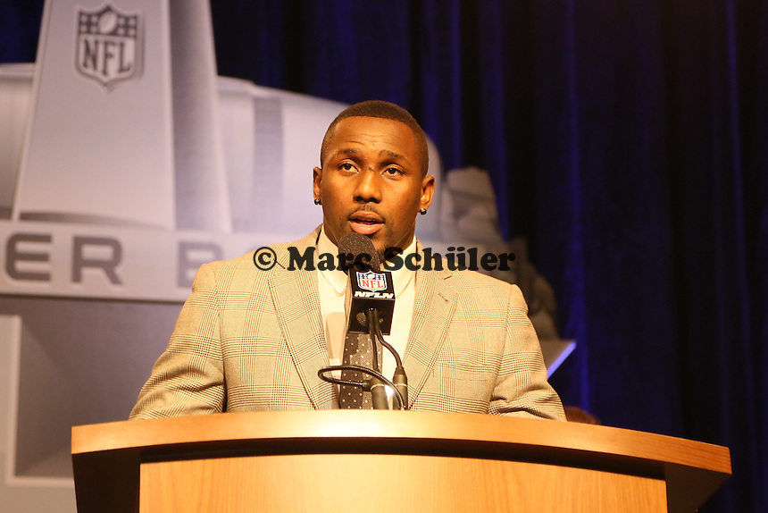 Finalisten LB Thomas Davis (Carolina Panthers) - Walter Payton Man of the Year Award, Super Bowl XLIX, Convention Center Phoenix