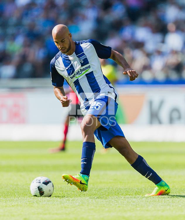 Berlin, Germany, 28.08.2016:<br /> Football 1. Bundesliga  2016/2016 - Hertha BSC - SC Freiburg.<br /> <br /> John Anthony Brooks (Hertha #25) .<br /> .
