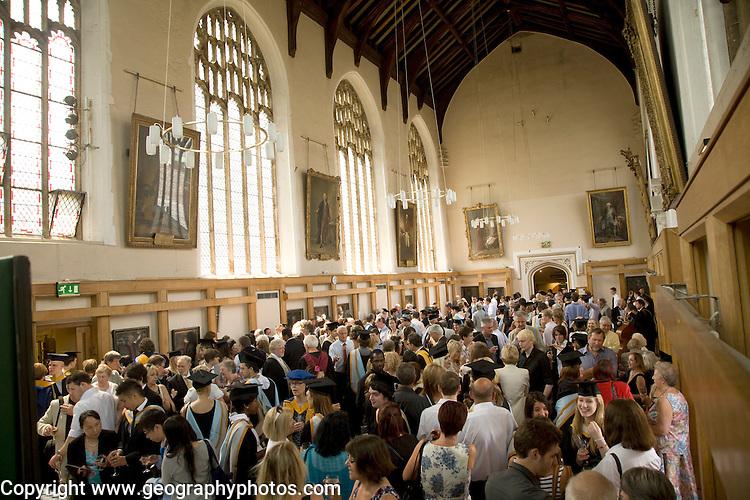 Graduation award ceremony reception, St Andrews Hall, Norwich, Norfolk, England