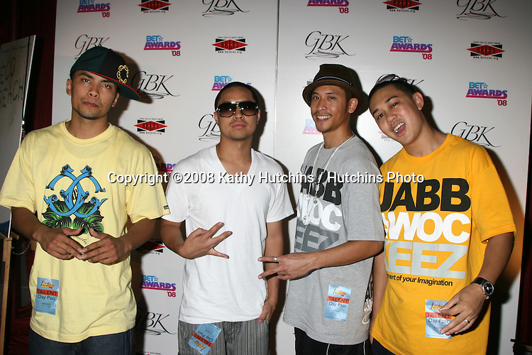 Jabbawockeez at the BET Awards GBK Gifting Lounge outside the Shrine Auditorium in Los Angeles, CA on.June 22, 2008.©2008 Kathy Hutchins / Hutchins Photo .