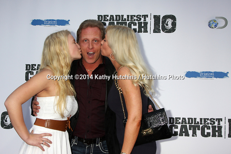 "LOS ANGELES - APR 22:  Mandy Hansen, Sig Hansen, June Hansen at the ""Deadliest Catch"" Season 10 Premiere Screening at ArcLight Hollywood Theaters on April 22, 2014 in Los Angeles, CA"