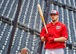 23 May 2017: Washington Nationals catcher Matt Wieters exits the batting cage prior to a game against the Seattle Mariners at Nationals Park in Washington, DC. The Nationals defeated the Mariners 10-1 to take the first game of their inter-league series. Mandatory Credit: Ed Wolfstein Photo *** RAW (NEF) Image File Available ***