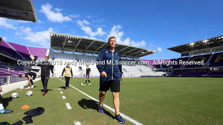 Orlando, Florida - Monday January 15, 2018: Todd Yeagley. Match Day 2 of the 2018 adidas MLS Player Combine was held Orlando City Stadium.