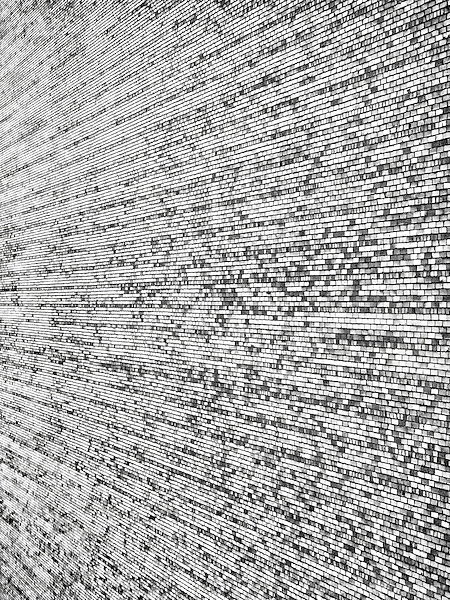 Black and white abstract of brick wall