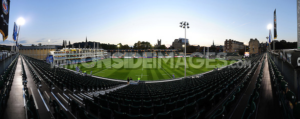A general view of the Recreation Ground prior to the match. European Rugby Challenge Cup match, between Bath Rugby and Bristol Rugby on October 20, 2016 at the Recreation Ground in Bath, England. Photo by: Patrick Khachfe / Onside Images