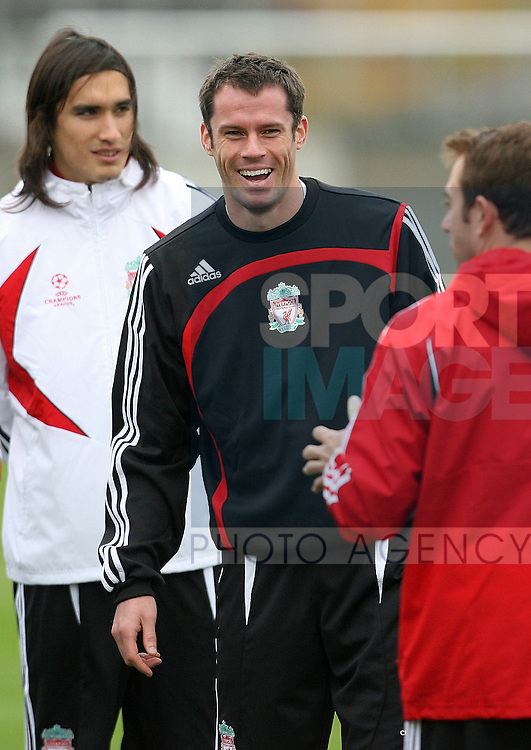 Liverpool Champions League Training, Melwood Training Complex, West Derby, Liverpool, 5th November 2007...Jamie Carragher.