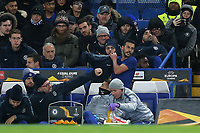 Pedro of Chelsea looked frustrated after being substituted in the second half during Chelsea vs PAOK Salonika, UEFA Europa League Football at Stamford Bridge on 29th November 2018