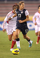 BOCA RATON, FL - DECEMBER 15, 2012: Tobinn Heath (17) of the USA WNT o during an international friendly match against China at FAU Stadium, in Boca Raton, Florida, on Saturday, December 15, 2012. USA won 4-1.
