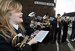 And the brass band played tunes to entertain the fans outside the stadium