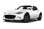 Stock pictures of low aggressive front three quarter view of 2017 Mazda MX-5-RF Club 2 Door Targa Low Aggressive