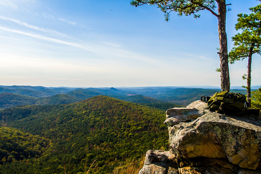 View of Flatside Wilderness from Flatside Pinnacle in Ouachita National Forest, Arkansas
