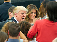 United States President Donald J. Trump and first lady Melania Trump host the annual Congressional Picnic on the South Lawn of the White House in Washington, DC on Thursday, June 22, 2017.<br /> Credit: Ron Sachs / CNP /MediaPunch