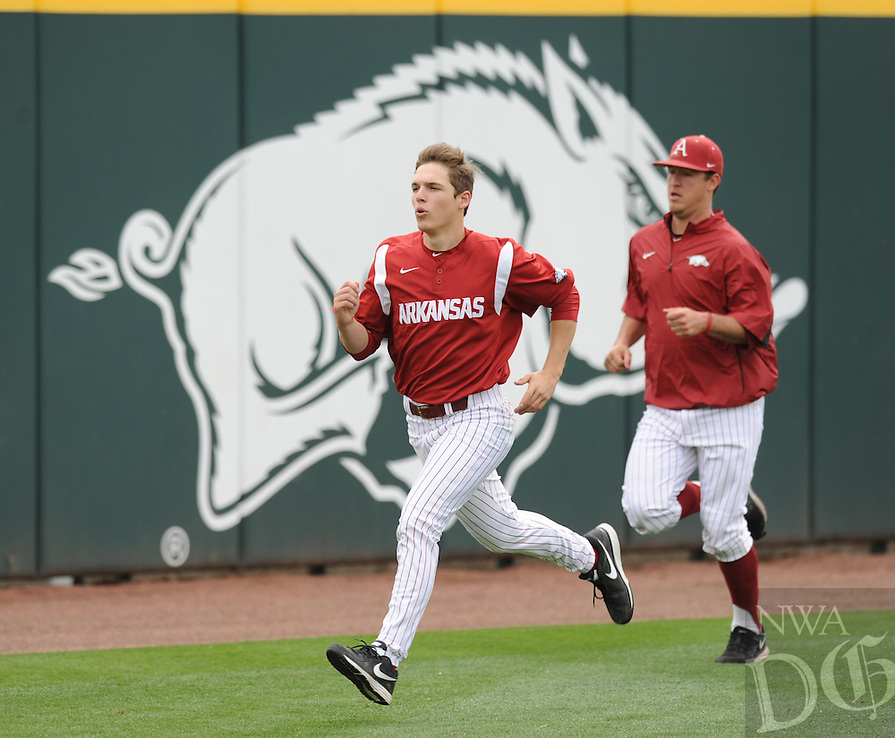 NWA Democrat-Gazette/ANDY SHUPE -  Arkansas and LSU Saturday, March 21, 2015, at Baum Stadium in Fayetteville. Visit nwadg.com/photos for more photos from the game.