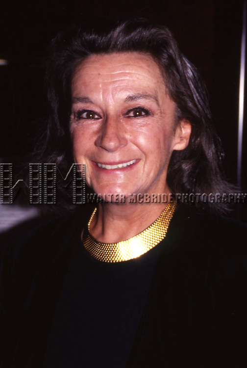 Zoe Caldwell attends a Broadway Show on September 3, 1995 in New York City.