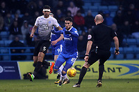 Conor Wilkinson of Gillingham in action during Gillingham vs Peterborough United, Sky Bet EFL League 1 Football at the MEMS Priestfield Stadium on 10th February 2018