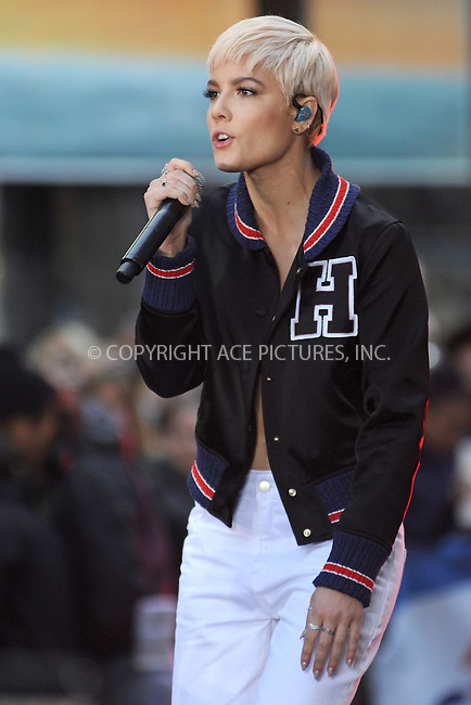 WWW.ACEPIXS.COM<br /> November 18, 2015 New York City<br /> <br /> Halsey performing in concert on NBC TODAY at Rockefeller Plaza on November 12, 2015 in New York City.<br /> <br /> Credit: Kristin Callahan/ACE<br /> <br /> Tel: (646) 769 0430<br /> e-mail: info@acepixs.com<br /> web: http://www.acepixs.com