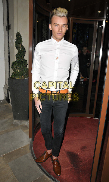 LONDON, ENGLAND - FEBRUARY 25: Harry Derbidge attend the Total Mink ethically produced mink fur eyelashes new line launch party, Sanctum Soho Hotel, Warwick St., on Tuesday February 25, 2014 in London, England, UK.<br /> CAP/CAN<br /> &copy;Can Nguyen/Capital Pictures