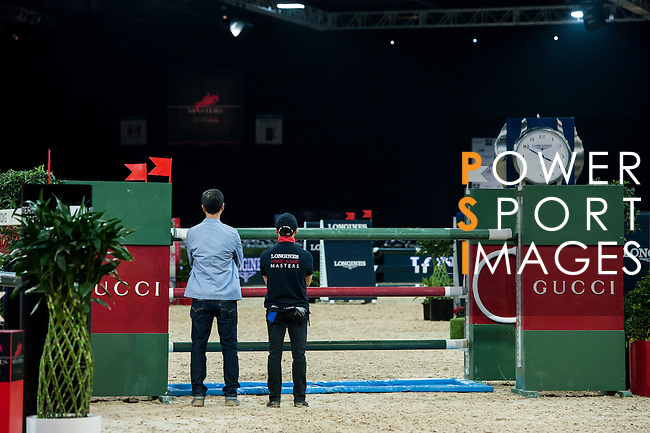 Gerco Schroder of Netherlands rides Glock's London N.O.P. action at the Longines Grand Prix during the Longines Hong Kong Masters 2015 at the AsiaWorld Expo on 15 February 2015 in Hong Kong, China. Photo by Xaume Olleros  / Power Sport Images